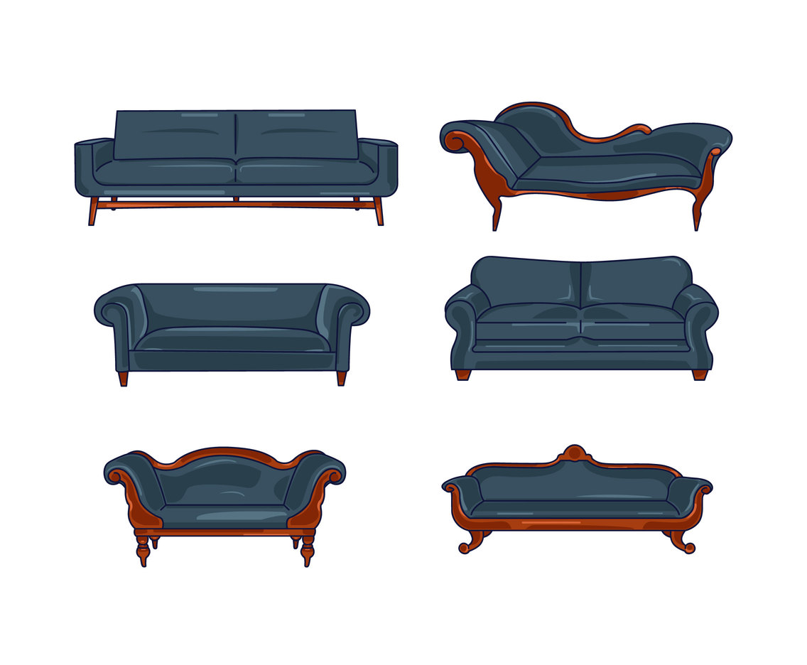 Couch Retro Retro Couch Vector Vector Art And Graphics Freevector