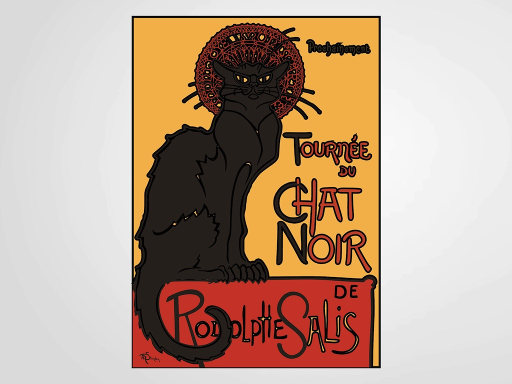 Poster Chat Chat Noir Poster Vector Art And Graphics Freevector