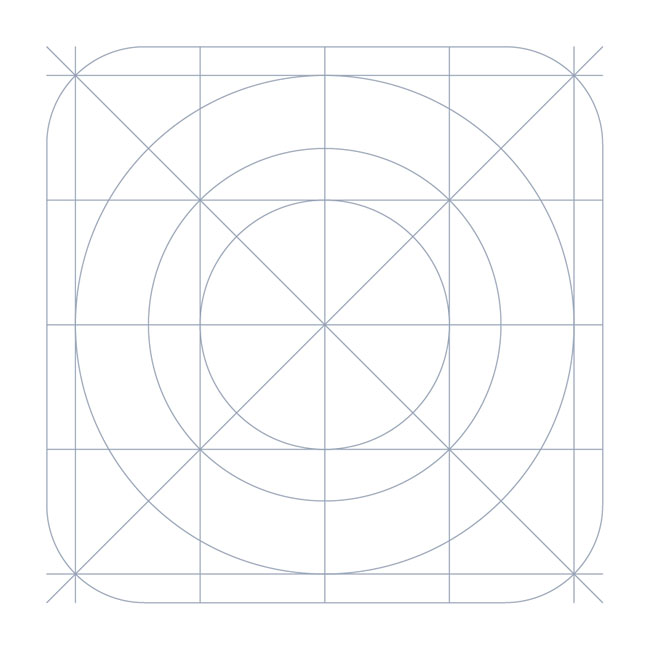 Download iOS7 Grid system Icon Template - Free Vector Site - iphone app icon template