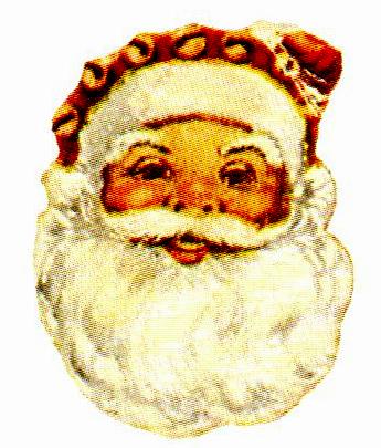 free classic victorian santa face vintage Free Vintage Illustrations