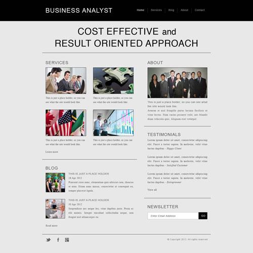 Business Analyst Website Template Free Website Templates