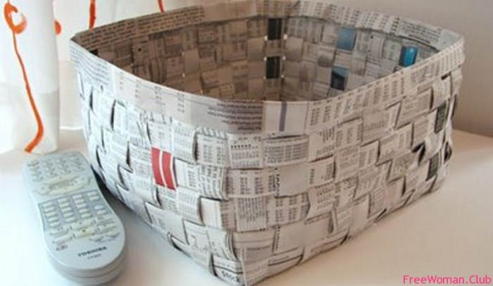 Корзина для газет своими руками