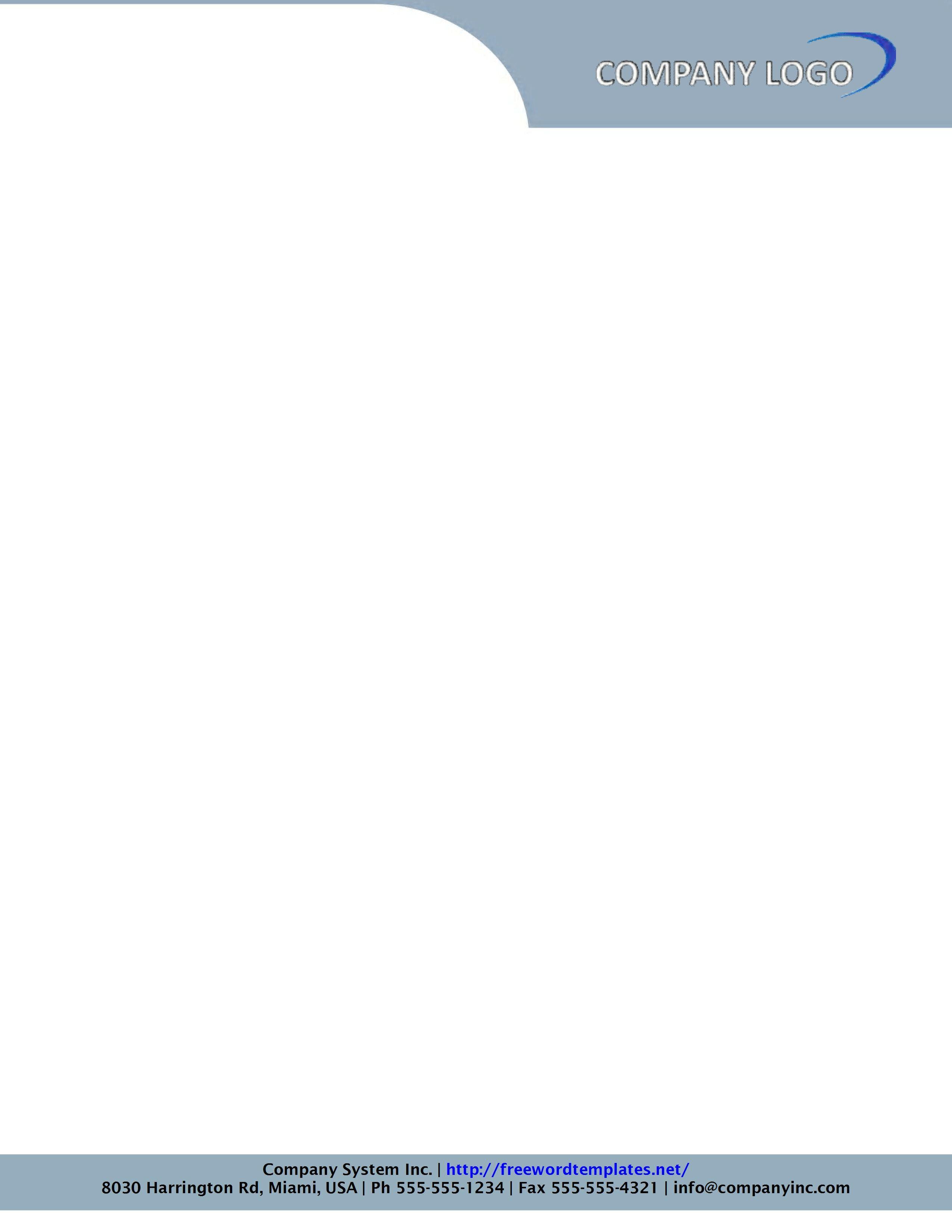 Letterhead Format Doc Free Download – Letterhead Format for Company