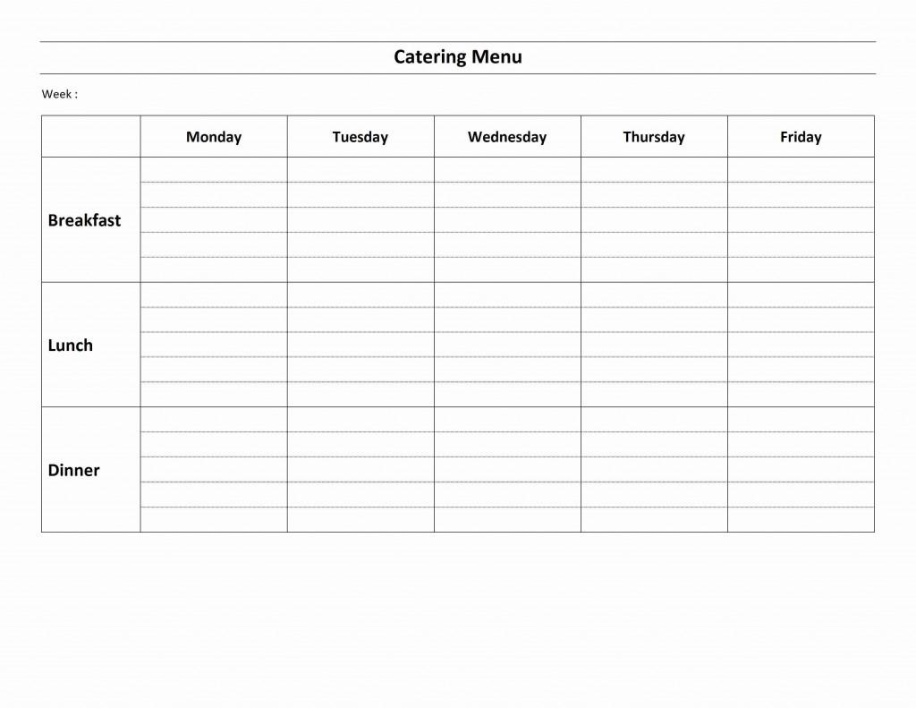 dinner menu template sample cv english resume