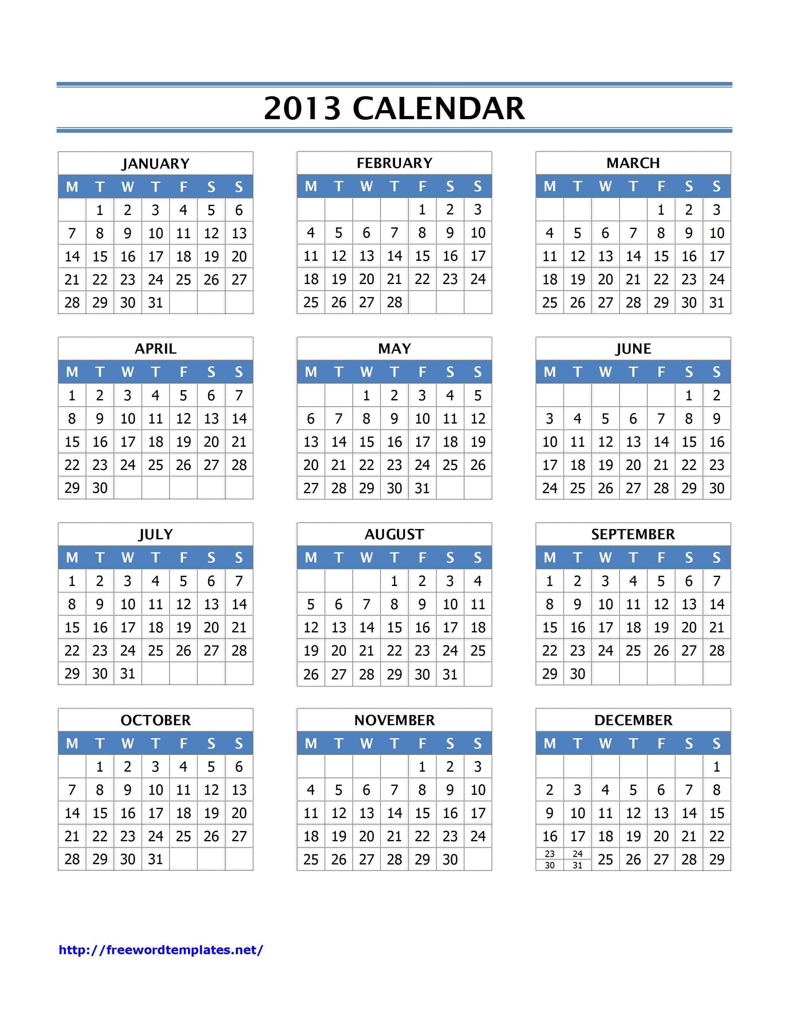 Julian Annual Calendar 2013 Year Wikipedia 2013 Calendar