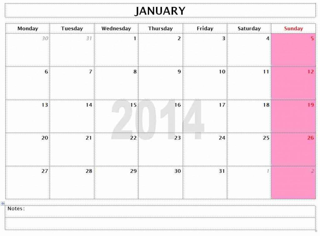 Office Template Calendar Oakandale