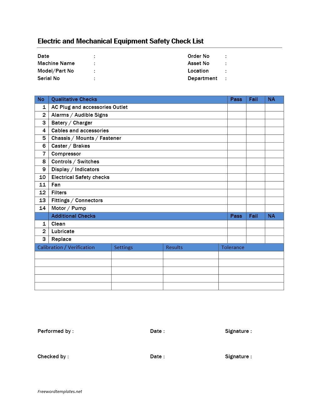 Daily Checklist Template Microsoft Word – Microsoft Word Template Checklist