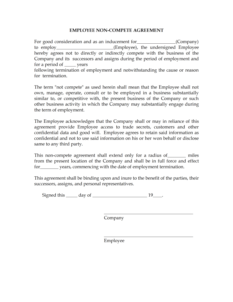 non compete agreement us reference letter for medical school non compete agreement us