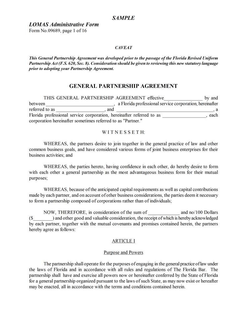 partnership agreement between two individuals