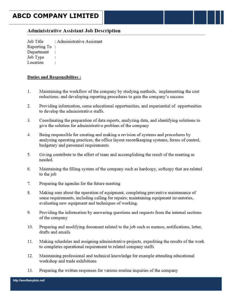administrative assistant resume details sample document files administrative assistant resume details sample administrative assistant resume and tips administrative assistant job description wordtemplates