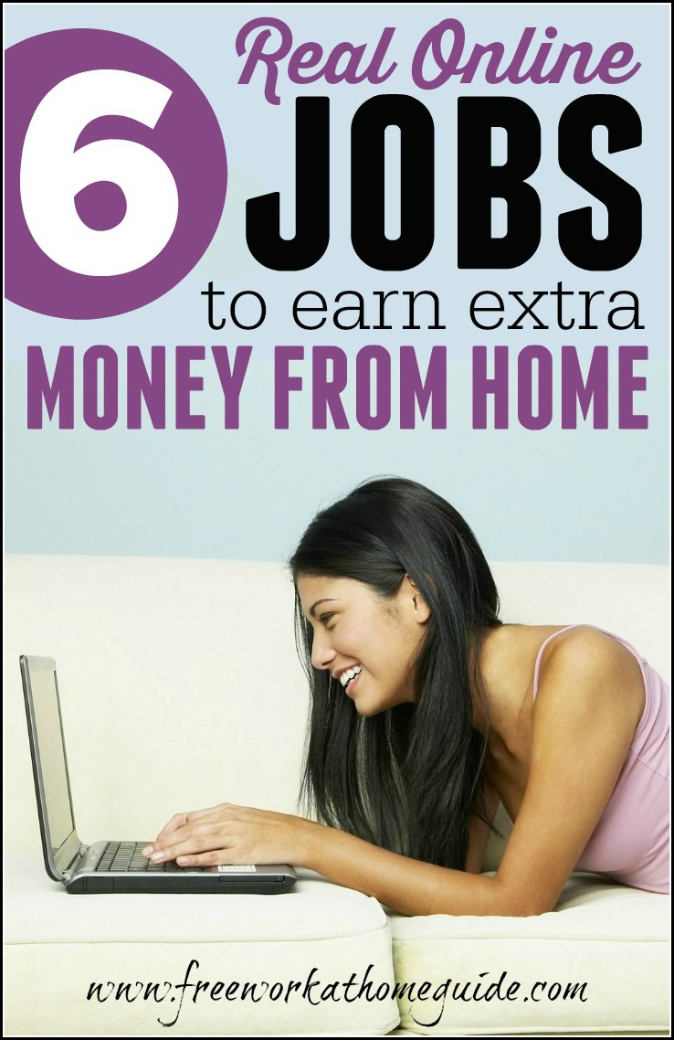 Online Home 6 Real Online Jobs To Earn Extra Money From Home