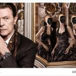 David Bowie and Arizona Muse for Louis Vuitton
