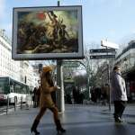 """""""OMG"""" A Street Artist in Paris Steals Ads and Replaces Them With Classical Paintings"""