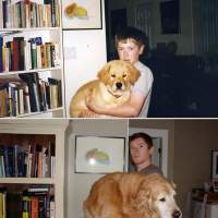 27 Adorable Before And After Photos Of Pets Growing Up