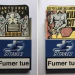 """Smoke Signals"" – Drawings on Gitanes Cigarette Packs by Léo Dorfner"