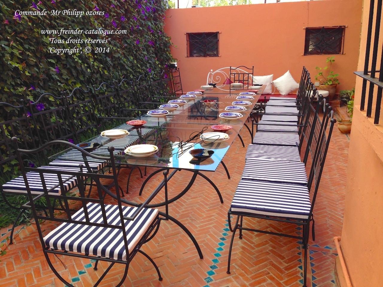 Salon De Jardin Fer Forgé Marocain | Abris De Jardin Fer Forge ...