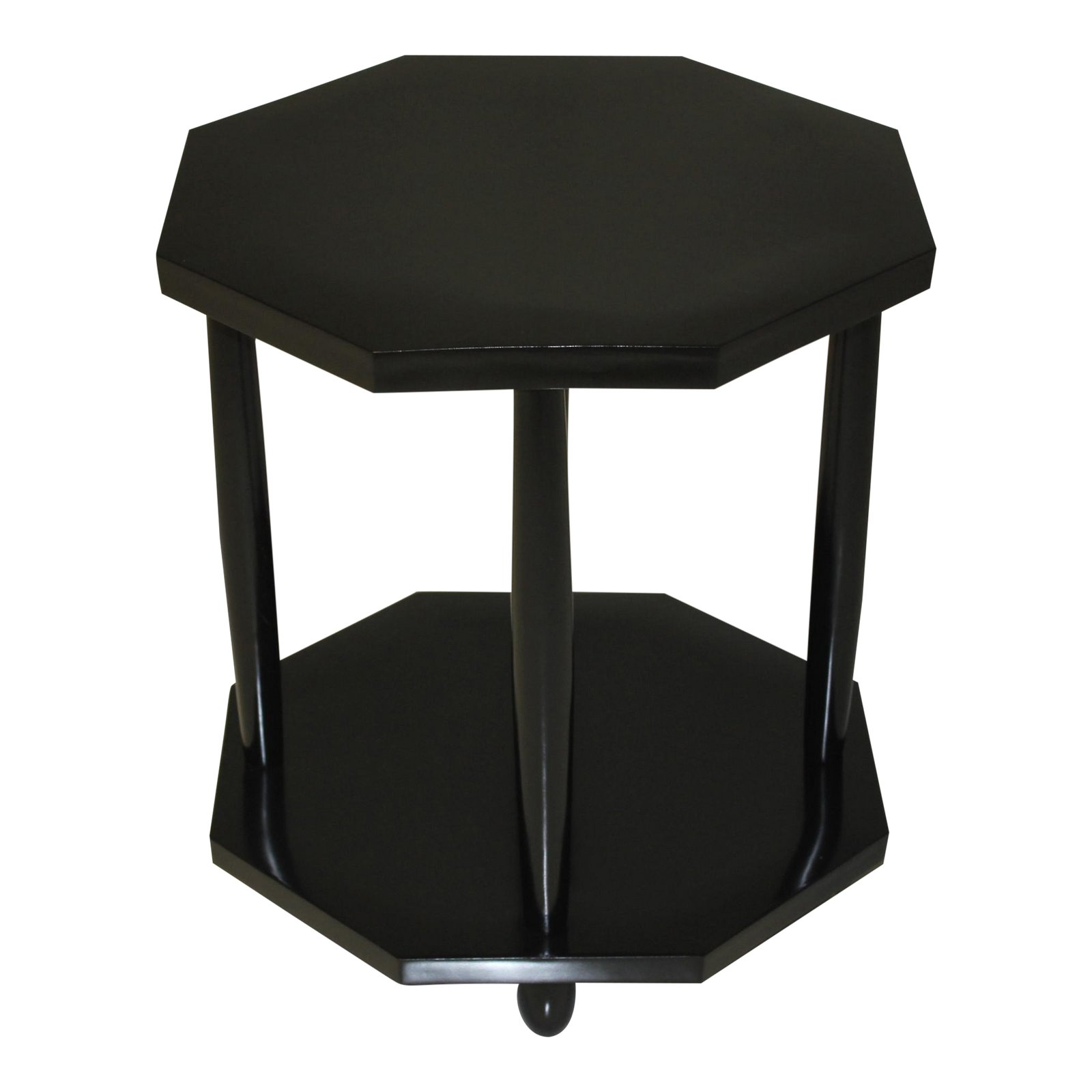 Coffee And Side Tables 1940s French Art Deco Black Ebonized Coffee Table Or Side Table
