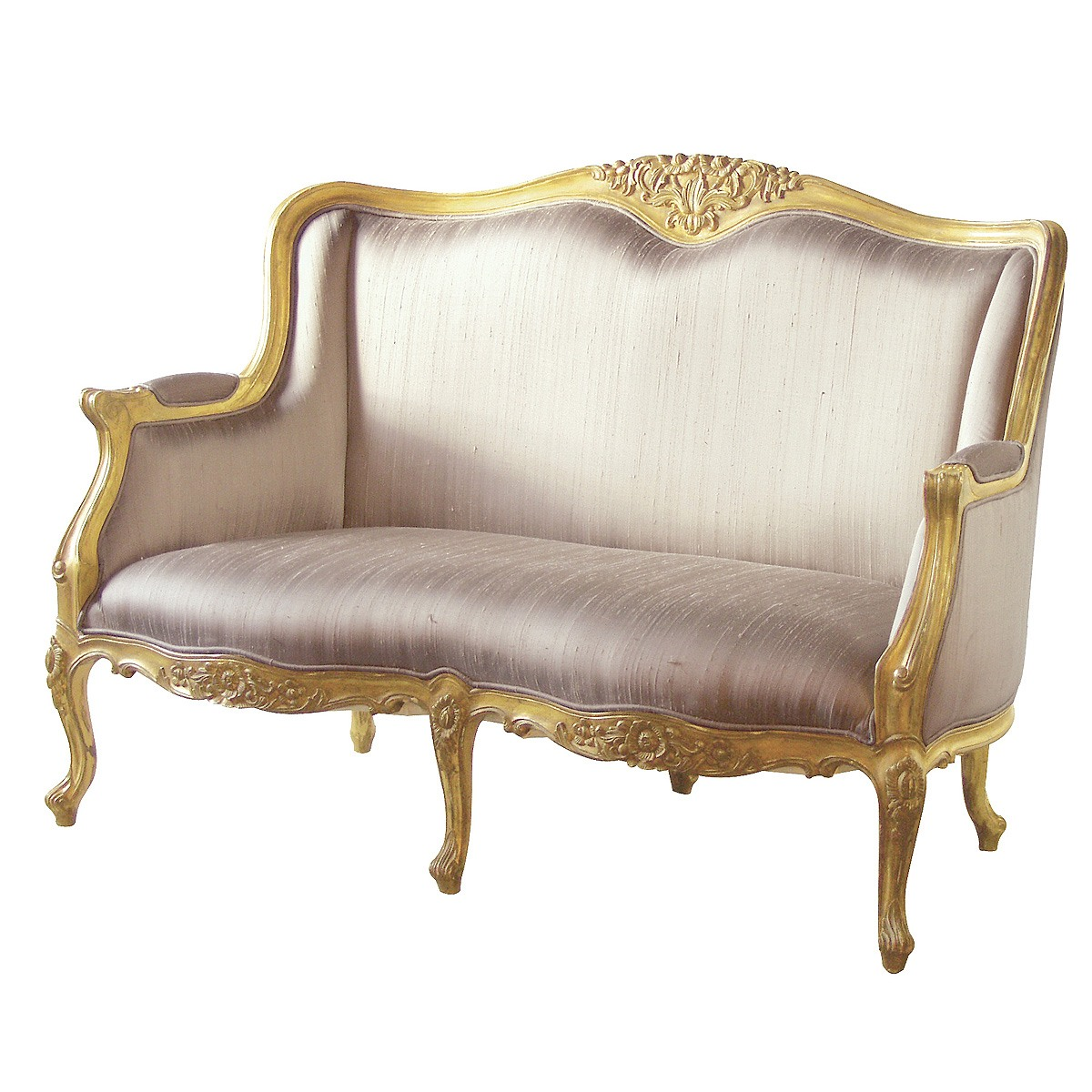 Sofa Versailles Gold Bedroom Sofa With Silk Upholstery French