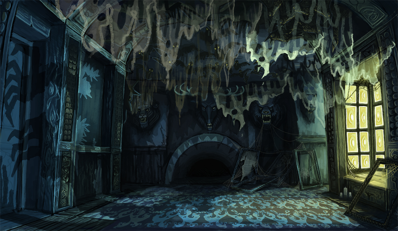 Animated Fireplace Wallpaper Phh Taxidermy Room Sarah Ford Concept Art