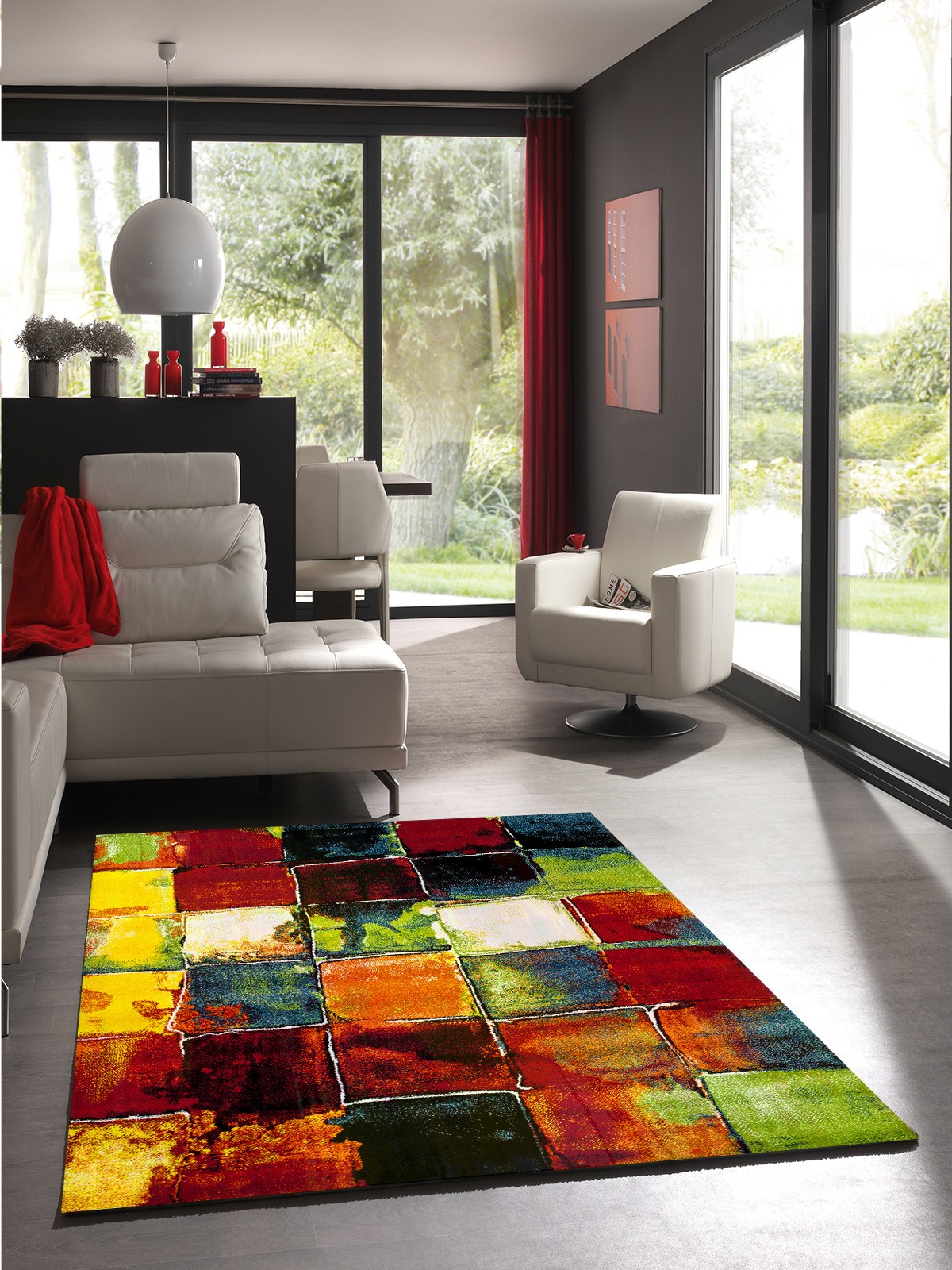 Tapis Salon Multicolore Enredada