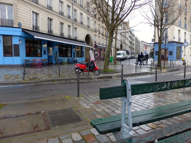 Rainy day. Belleville (19th arrondissement.)