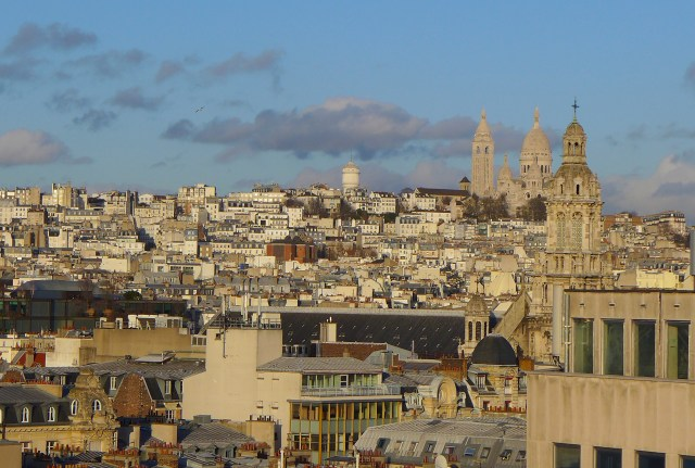 Montmartre from le Printemps rooftop