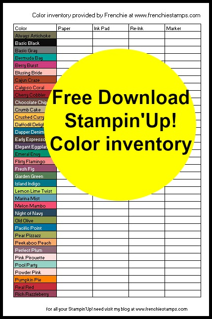 In-Color 2017-19 Color combination Free Download of chart Color and