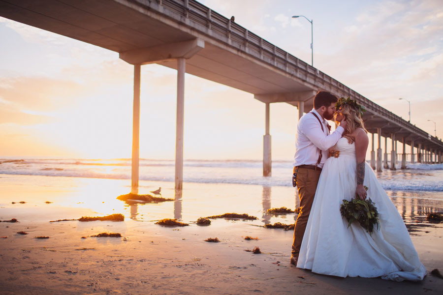 sea elopement pregnant bride 30 An Elopement in San Diego with a Nearly 9 Months Pregnant Bride