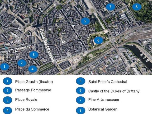 Nantes old town situation map ©French Moments