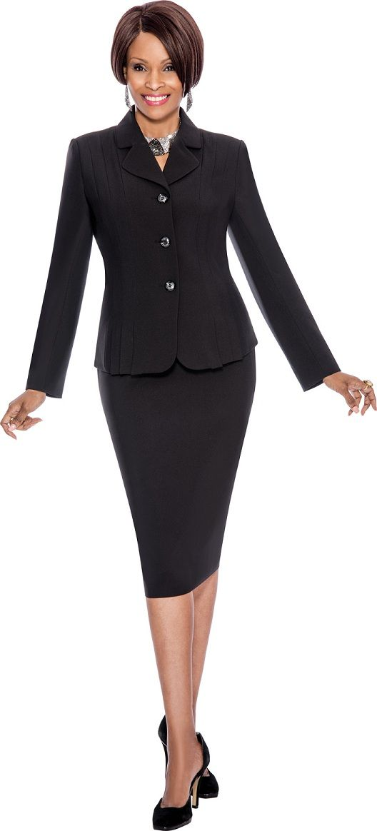 Black Evening Plus Size Dresses Terramina 7468 Womens Career Suit French Novelty