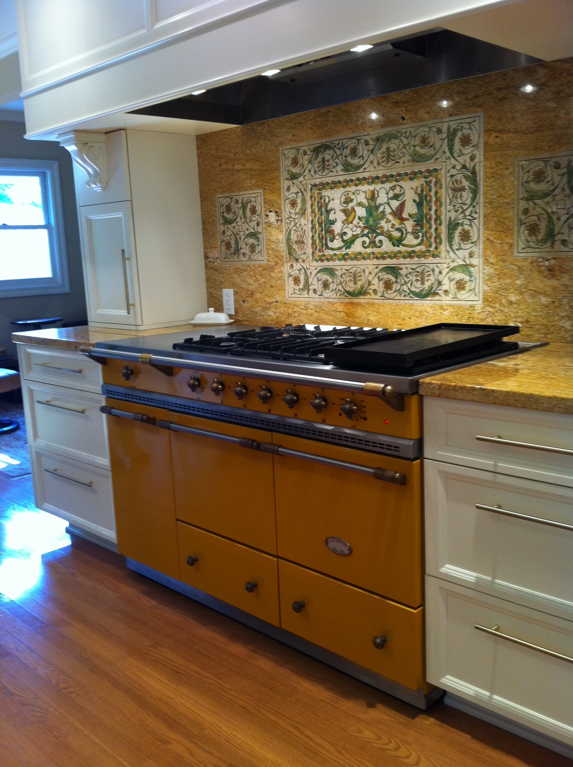 Kitchen Island With Range Cooker Island And Wall Spacers - Lacanche Usa