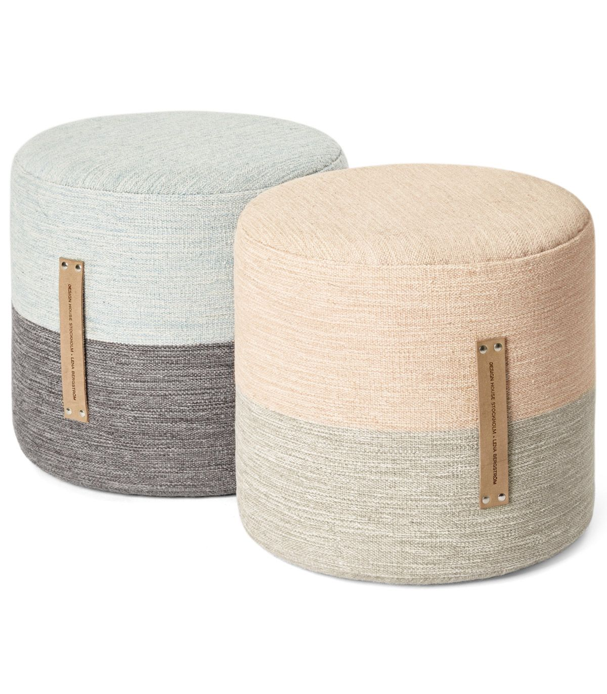 Pouf Exterieur Made Pouf Fields Pink Beige Design House Stockholm