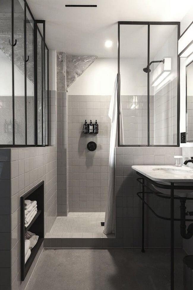 Idee Deco Salle De Bain Noir Et Blanc | La Déco De La Maison ...