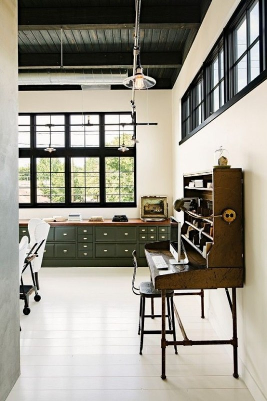 un bureau style industriel frenchy fancy. Black Bedroom Furniture Sets. Home Design Ideas