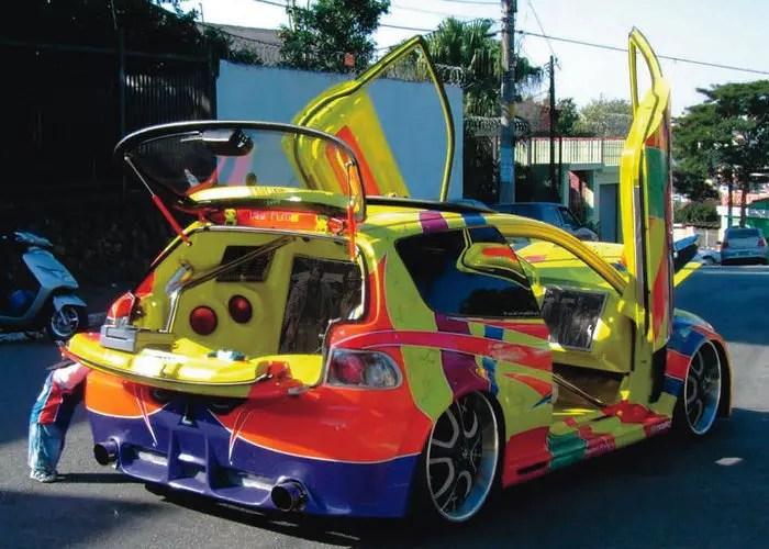 Mini Coupe Car Painting Wallpaper Coches Miticos Del Tuning Espa 241 Ol