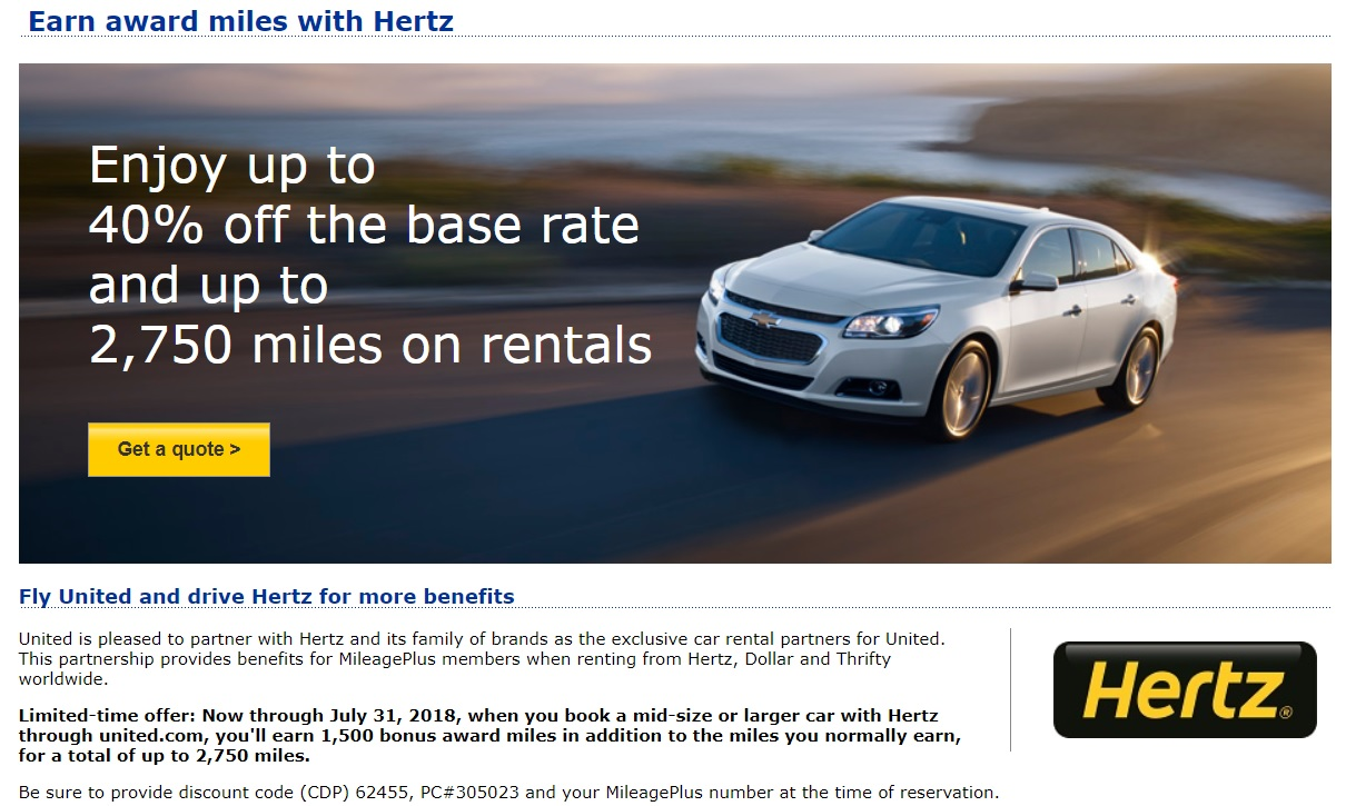 Miles And More Car Rental Expired Up To 2750 United Miles Per Hertz Booking
