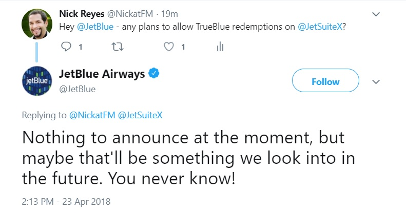 Fly (semi) private on points or credits JetBlue selling JetSuiteX seats