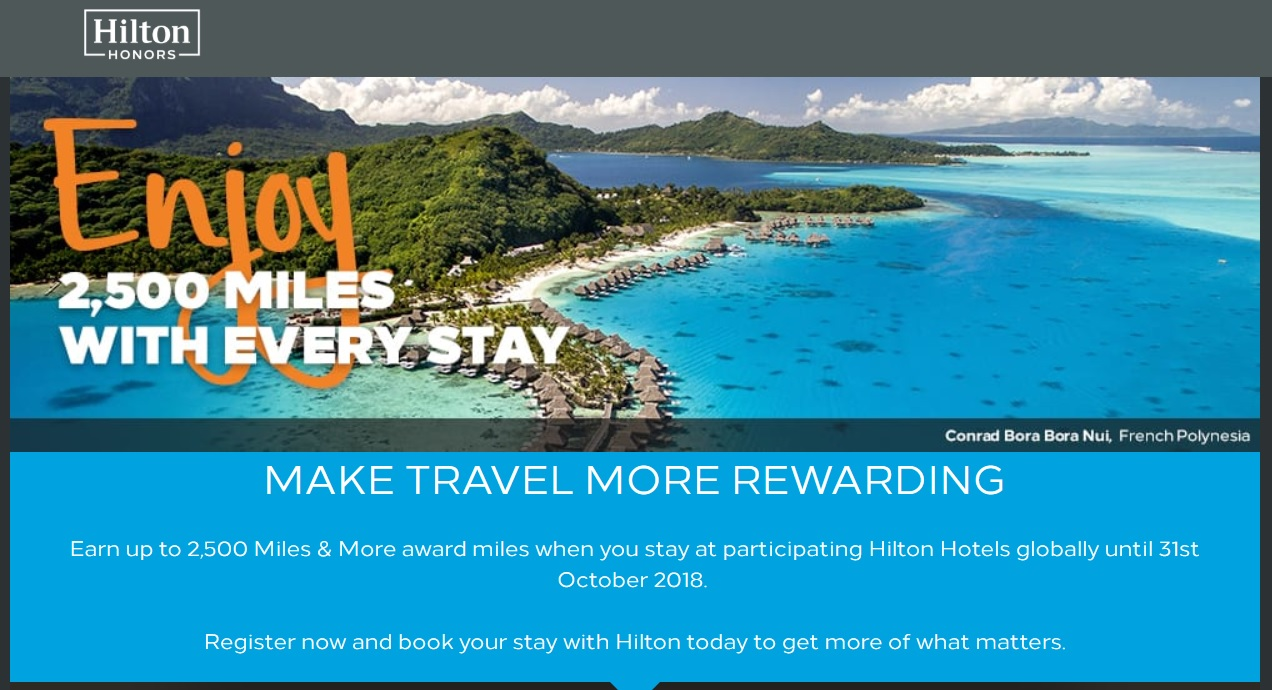 Miles And More Points Expired Get 2500 Miles With Each Hilton Stay Lufthansa Miles More