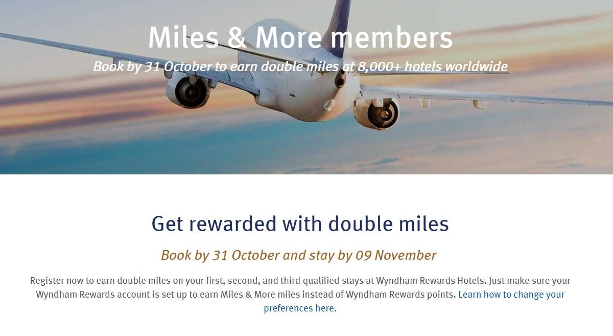 Miles And More Points Expired Double Miles More Miles With Wyndham Stays