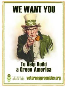 Green uncle sam