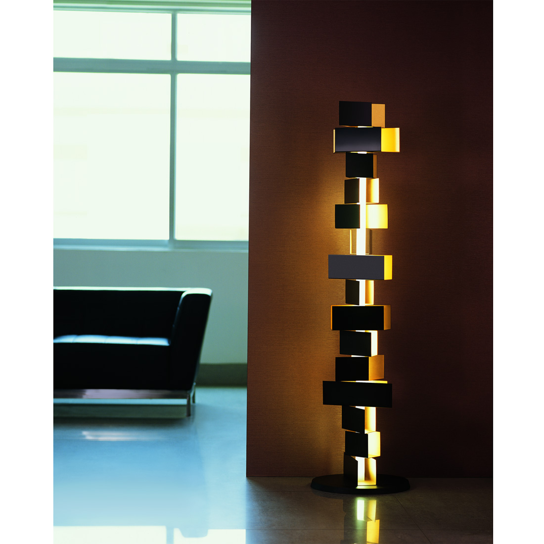 Designer Floor Lamps Gemma Stacked Block Floor Lamp From Fashion For Home