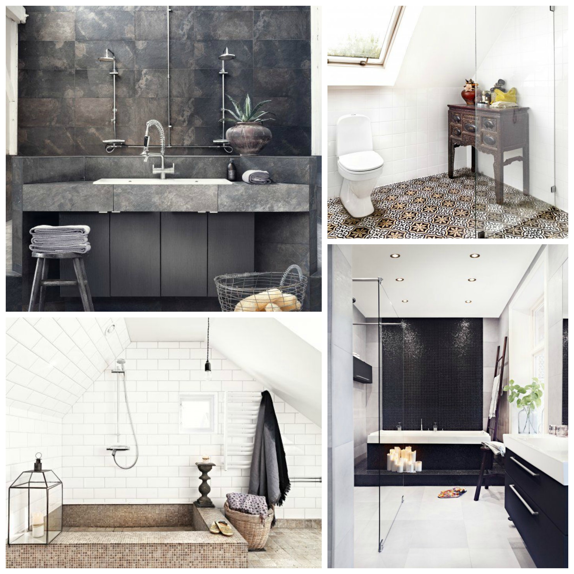 Imagenes De Baños Rusticos Using The Tactile Textures Trend In Bathroom Design