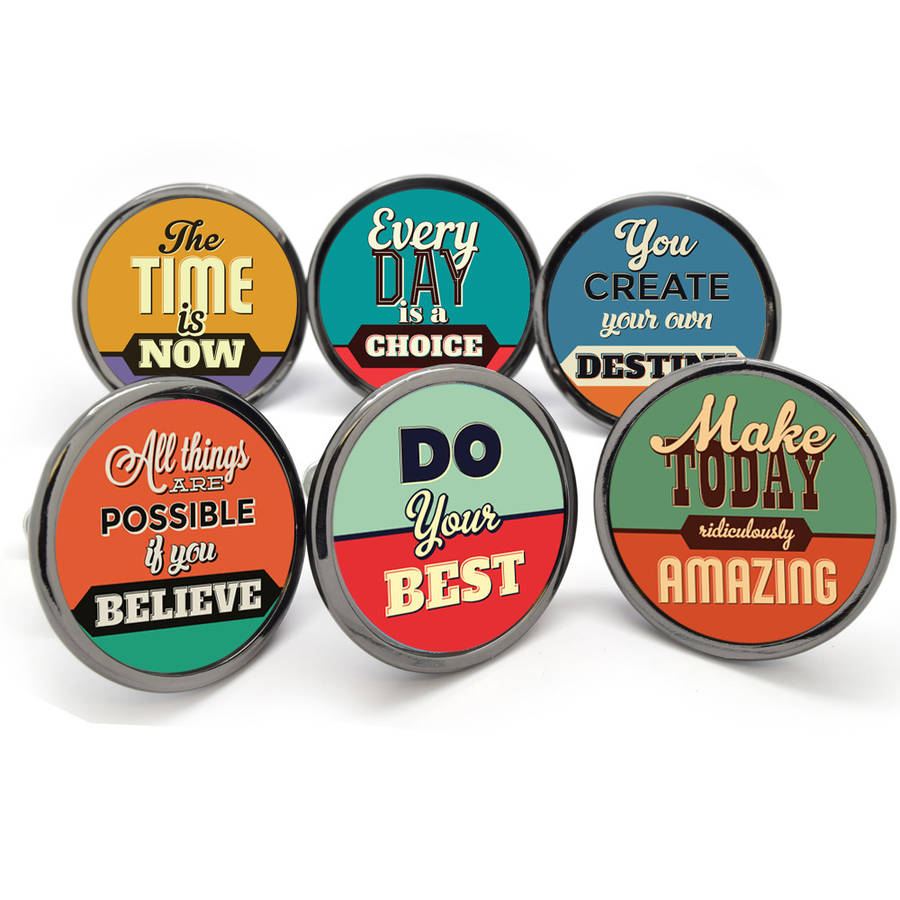 Make Your Furniture Inspirational With These Quote Knobs Fresh Design Blog