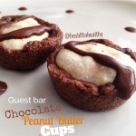 Double Chocolate Chunk Tartlets with Peanut Butter Yogurt Filling [Quest Bar Recipe]