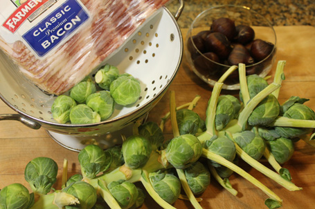 Brussels sprouts, chestnuts and bacon - a great combination!