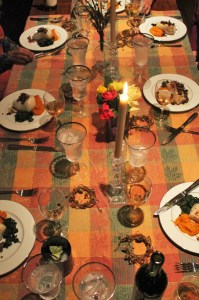 The Autumn Dinner Party Table