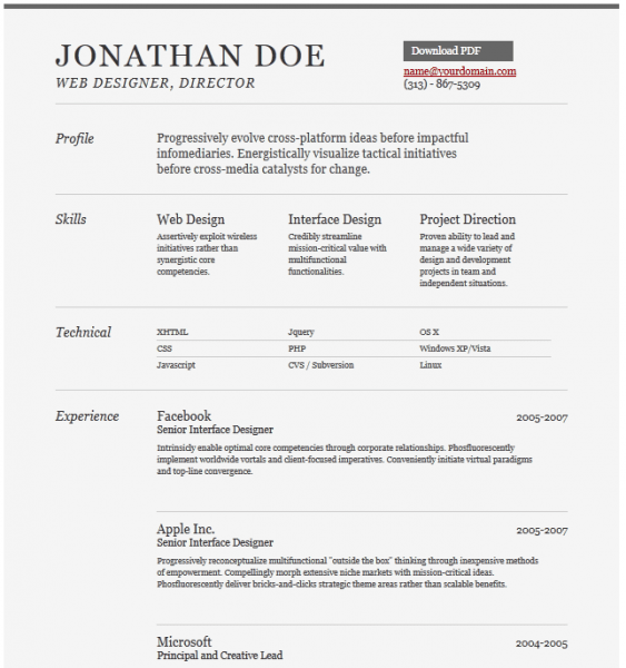 Font Cover Letter Resume Format Download Pdf