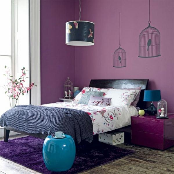 violet-farbe-blaue-elemente-interieurjpg (600×600) Home Sweet - farbe für schlafzimmer