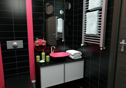 Design#5001822 Schwarze Badezimmer Ideen u2013 Schwarze badezimmer - badezimmer pink