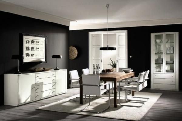 Perfekt Best Esszimmer Design Schwarz Weis Kontraste Contemporary House ...  Esszimmer Design Schwarz